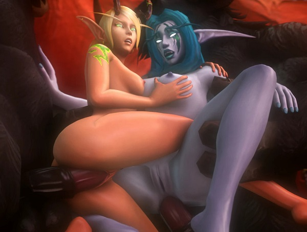 blood elf and night elf fucked by thick cocks
