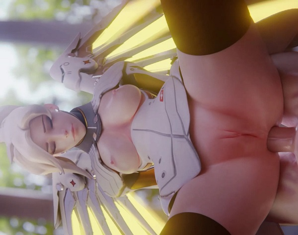 Mercy spreading and doing anal by zugronc