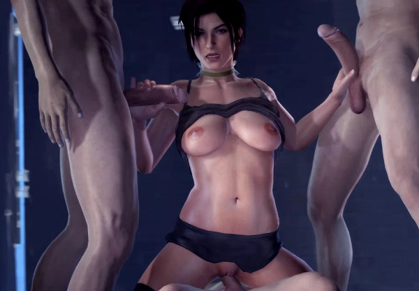 Lara Croft gangbang - Tomb Raider rule34