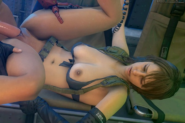 Deep in her pussy - Quiet Metal Gear rule34