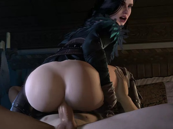 The Witcher 3D porn - Yennefer riding