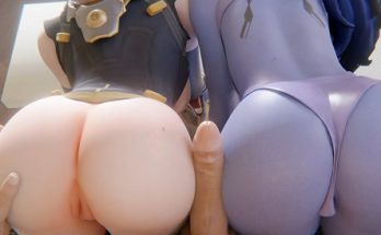 Tracer and widowmaker buttjob - Overwatch 3D Hentai