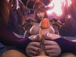 Alexstrasza 3D hentai - footjob and precum