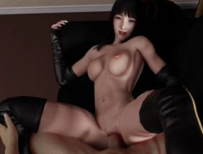 Final Fantasy 3D hentai - Gentiana getting fucked on the couch