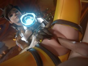 Tracer is wet and horny - Overwatch 3D Hentai