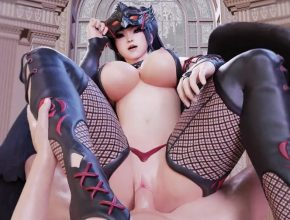 Nyotengu big tits bouncing - Dead Or Alive rule34