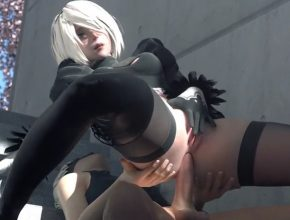 Android 2B squirting from anal sex - Nier Automata 3D Hentai