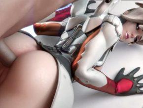 Mercy anal porn - Overwatch 3D Hentai