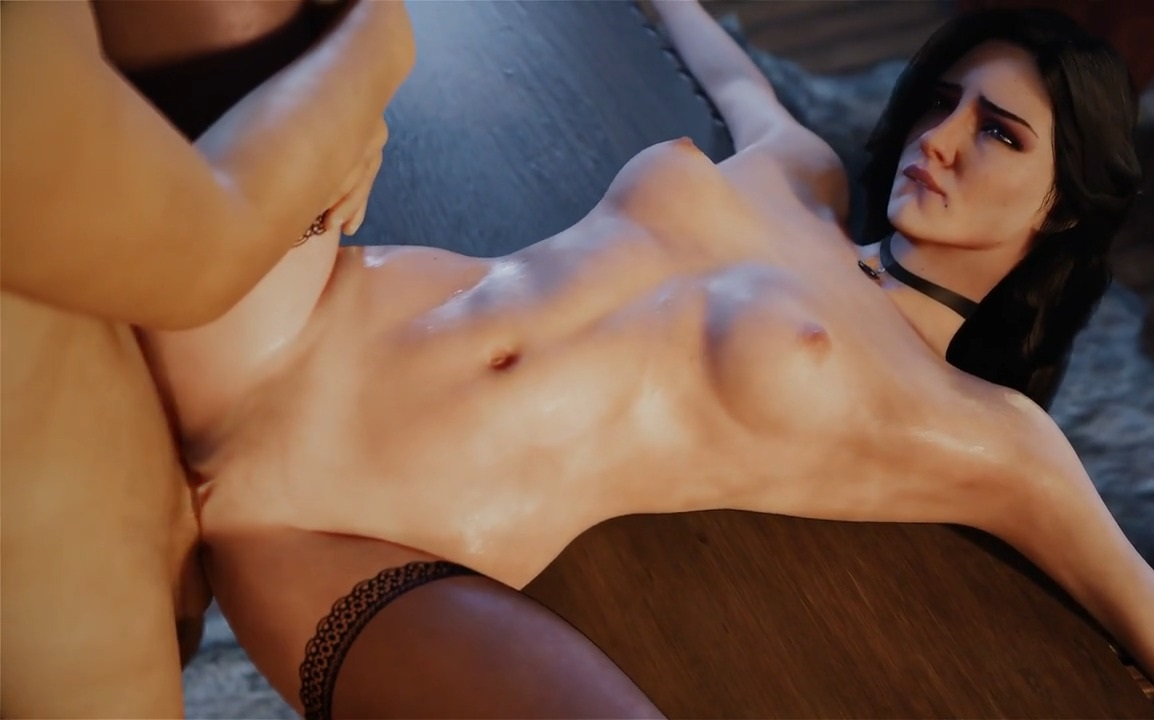 Yennefer gets her shaved pussy fucked deep video