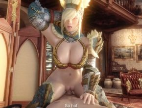 Monster Hunter 3D porn - Zinogre Armor and  Puffy Lips